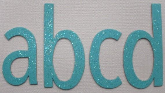 Swimming Pool Blue Glitter Chipboard Alphabet Letters