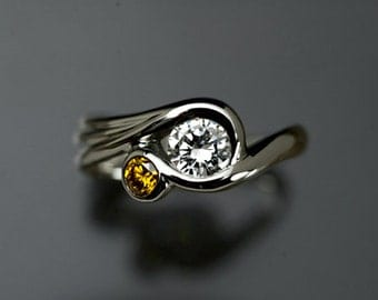 Art Nouveau-Inspired Engagement Ring