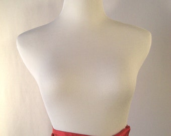 Red Sash  - Red Silky Belt - Silky Satin Tie - Shiny Red Crinkled Silky Satin