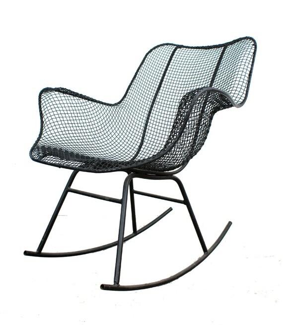 Woodard Sculptura Rocking Chair Mid Century Modern Eames On