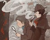 Sherlock Holmes Literary poster12x18 print