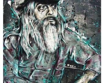 Leon Russell - Living on Tulsa Time - 12 x 18 High Quality Pop Art Print