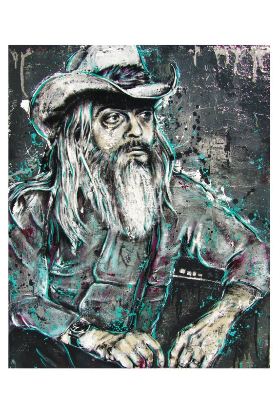 Leon Russell - Living on Tulsa Time - 12 x 18 High Quality Pop Art Print