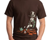 Mad Hatter T-shirt, Alice in Wonderland T-Shirt Men's shirt, Mens graphic tee, Gift for Him, Art T-shirt, Cool t-shirt