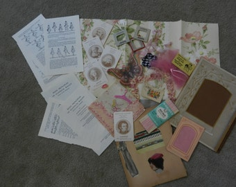 Girls Ballerina Ephemera Package Lot of Vintage Pink Goodies