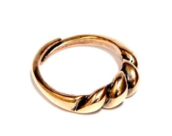 Two for One Sale...Ancient Viking Bornholm Ring in Traditional Bronze 288
