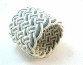 light blue cuff rope bracelet turks head knot fisherman bracelet sailor knot bracelet blue green white cord2603