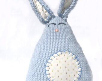 Stuffed Easter Bunny - Knit Easter Bunny - Easter Nursery Decor - Easter Toy for Boys - Plush Bunny - Kawaii Bunny Rabbit - Waldorf Easter