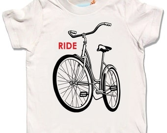 Kids Bike Shirt. Bicycle T Shirt. Bike T Shirt. Organic T Shirt, Kids T-shirts, Organic Clothes, Children's Clothing, Birthday t-shirts