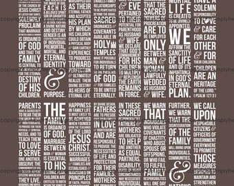 LDS Family Proclamation - Instant Download