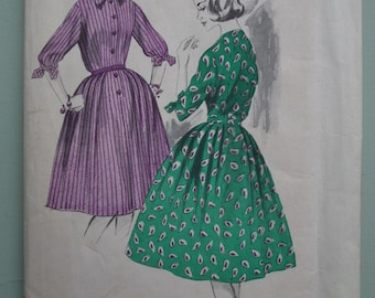 Vintage Sewing Pattern 1950s Women's Dress 50s Shirtwaister 36 inch bust UK Size 12 / 14 US Size 10 / 12 unused factory folded Maudella 5111