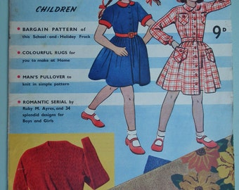 Weldons Home Dressmaker No. 678 Vintage Sewing Patterns Catalog Magazine UK 1940s 1950s 40s 50s children's clothing patterns