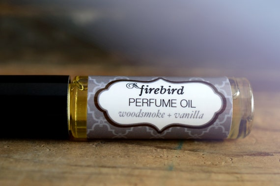 Woodsmoke and Vanilla Perfume Oil -  Firewood, Fir Needle, Vanilla