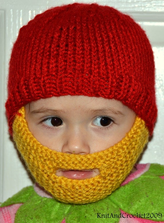 Knitting Pattern For Baby Hat With Beard : Unavailable Listing on Etsy
