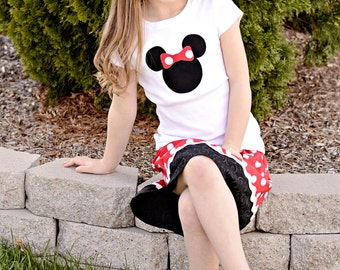 Minnie Mouse Shirt and Skirt sizes 6 - 9