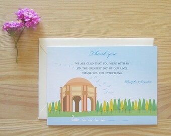 San Francisco Thank You Cards Package - Palace of Fine Arts