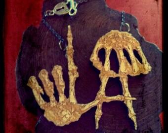 LA Skeleton Hands LARGE necklace