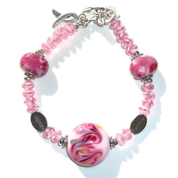 Pink Bracelet Survivor Jewelry Breast Cancer Awareness