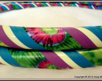 GLOW in The DaRK Hula Hoop 'ReVoLuTiOn GLoW' - TiE DyEd Custom Original Travel Hoop. Made YOUR Perfect Size.