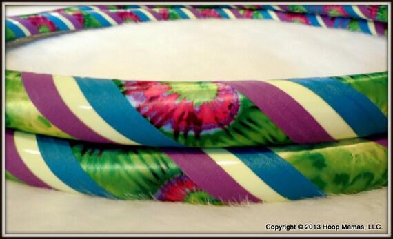 GLOW in The DaRK Hula Hoop 'ReVoLuTiOn GLoW' - TiE DyEd Custom Original Travel Hoop. Made YOUR Perfect Size.