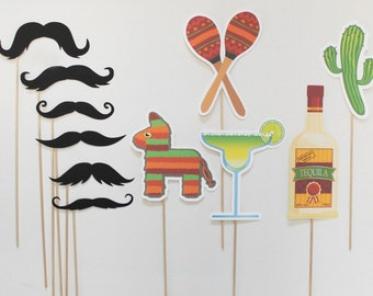 Mexican Themed Photobooth Props. Photo Booth Props. Wedding, Birthday Photo Prop. Wanted