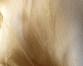 SAMPLE Antique Gold Tulle Illusion  for Bridal, Veils, Tutus, Skirts, Garters, Fascinators, Hats