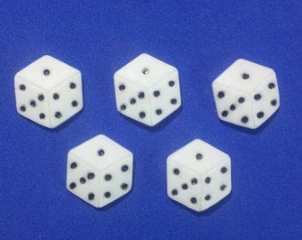 Edible Fondant Dice-Set of 12-Cake/Cupcake Toppers