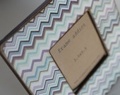 Blue and Purple Chevron Picture Frame