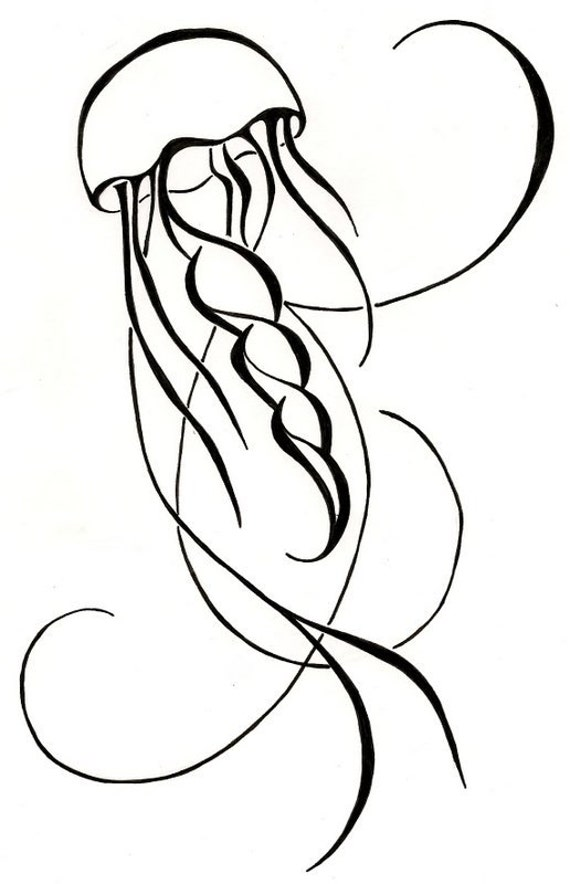 Items similar to Jellyfish Drawing Original Tattoo on Etsy