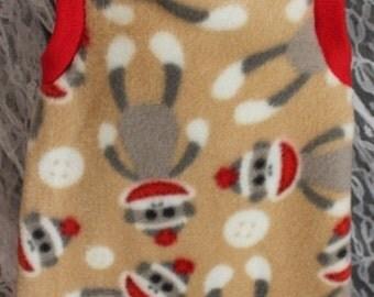 Sphynx Cat Clothes - Sock Monkey Body Sock Shirt