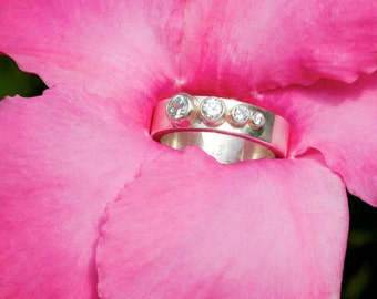 4 Stone Sequence Ring (Cubic Zirconia) Made to Order