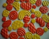 SALE - 40L - 40 pc Bubble, Scales, Basket-Weave, Swirls, Dots Tiles - Mosaic Ceramic Tiles
