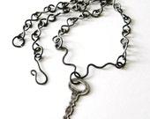 Skeleton Key Necklace Handmade Steel Chain