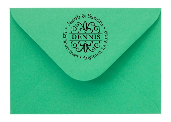 Personalized Custom Handle Mounted or Self Inking Made Return Address Rubber Stamps R67