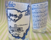 SALE: Vintage Ohio Souvenir Glasses / Down by the O-HI-O