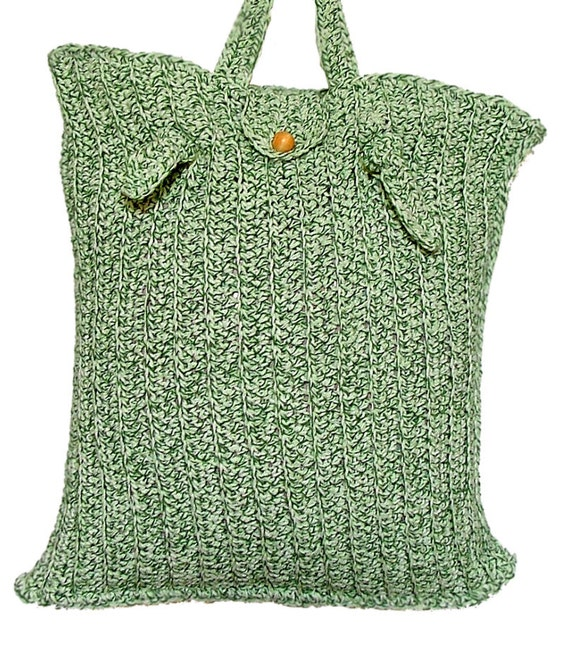 Cotton Tote Bag Crochet Tote Bag with Cotton Towels by knitwhats