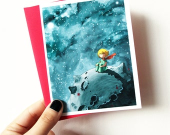 The Little Prince - blank greeting card with envelope