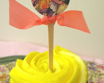 Fairy Cupcake Picks, Fairy Cupcake Toppers, Fairy Food Picks