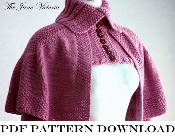 Knitting Pattern Notation : Mantelet Knitting PATTERNR.E.Linwelin PDF by TheJaneVictoria
