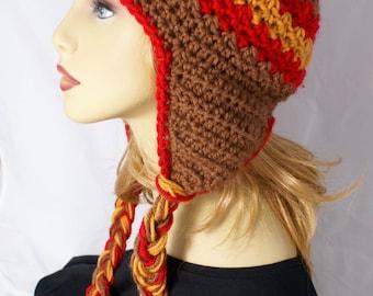 Ready to Ship Ear Flap Hat Chullo Beanie Helmet Hat