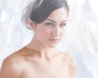 Tulle birdcage veil, 18 inch veil, bridal veil - ready to ship - FREE SHIPPING*
