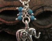 Lucky Elephant Sterling Silver Necklace