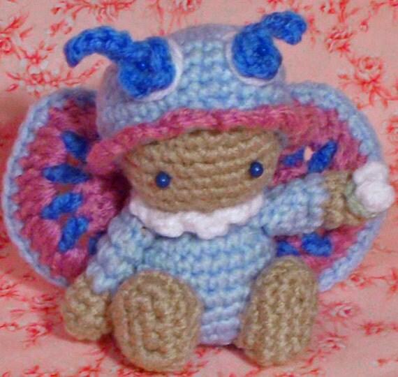 Crochet Pattern Amigurumi doll butterfly schmetterling ...