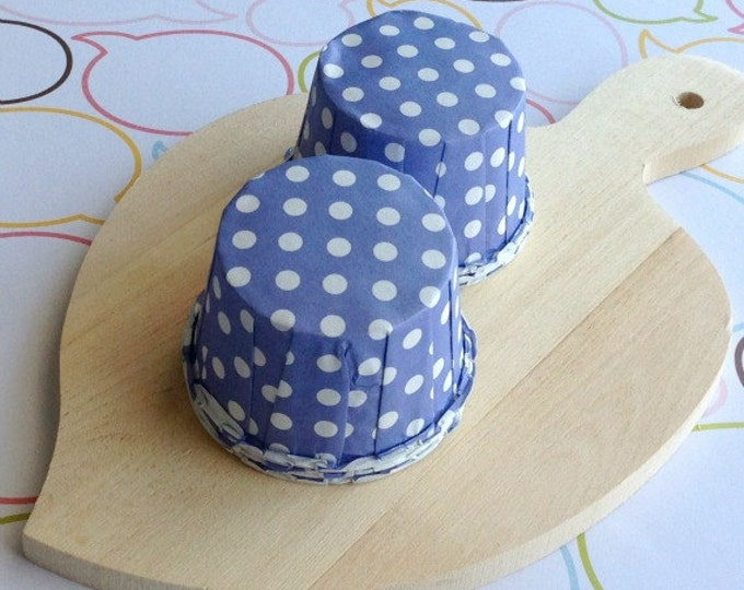 50 Lavender Polka Dot Baking Cups