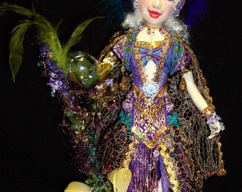 "Digital Download, Gypsy Corina 15"" Cloth Doll Pattern By Caroline Erbsland Signed"