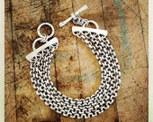 For Marijaradic- Balance-Sterling Silver 4 Chain Bracelet with Toggle