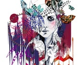 Tribal Girl // A3 Giclée print / FASHION ILLUSTRATION by Holly Sharpe