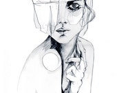 Sketch V // PENCIL DRAWING //A3 Giclée print from an original pencil drawing by Holly Sharpe
