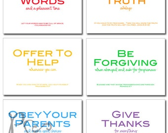 family rules with Bible verses - printable download - 5x7 prints