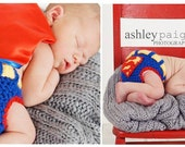 Super Tushie - Superman Inspired Crochet Diaper Cover - Great for Newborn Photos/Birthday/Heroic Feats of Derring Do